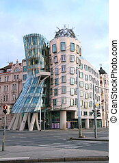 Dancing house building in Prague, Czech Republic