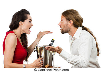 Couple on a date arguing