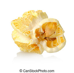 One popcorn - Sweet popcorn isolated on a white background