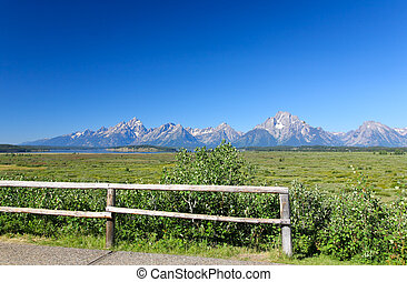 les, Grandiose, teton, national, Parc