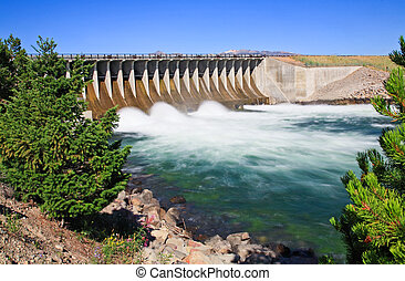 The Jackson Lake Dam at Grand Teton - The Jackson Lake Dam...