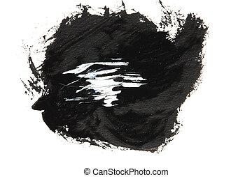 black gouache on white background.