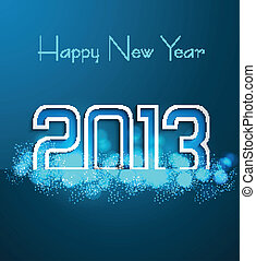 Happy New Year 2013 blue background