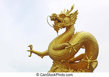 golden dragon statue, phuket thailand