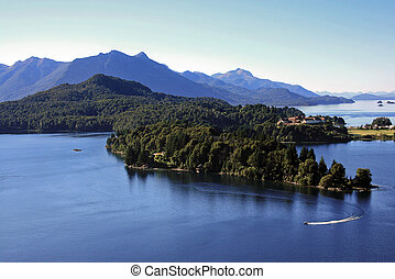 Lake Nahuel Huapi in Bariloche during the summer