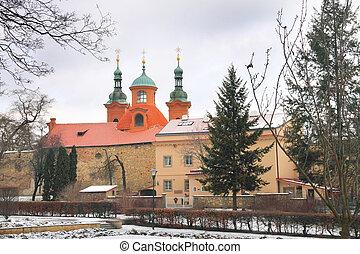 Church in old Prague, Czech republic