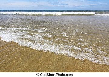 sea sand wave,blue sky