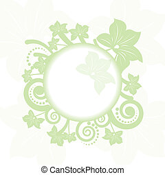 Abstract beautiful flowers creative design