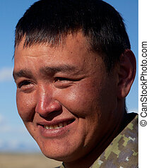 uomo, Asiatico, giovane