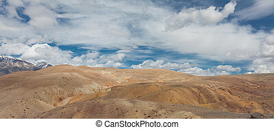 panorama of the steppe and the clouds above it
