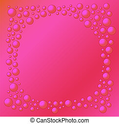 red background with red bubbles of different size - like red...