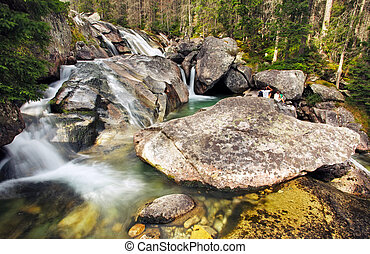 Waterfall in Tatra mountain, Slovakia - Studenovodsky