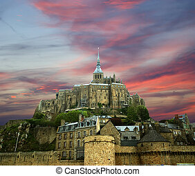 Mont Saint-Michel, Normandy, France--one of the most visited...