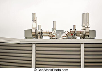 Air Handler - Clean air handling equipment on top of a...