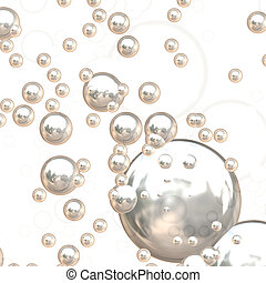 3D Chrome Bubbles