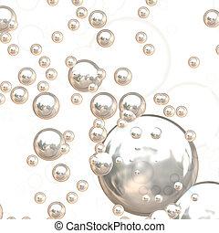 3D Chrome Bubbles - 3D chrome bubbles with ultra reflective...