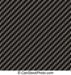 Seamless Carbon Fiber - A diagonally woven carbon fiber...