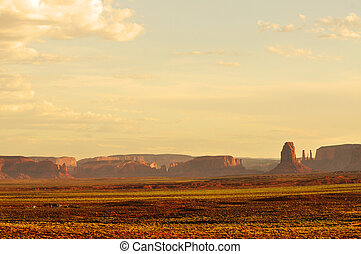 Monument Valley Landscape - Panoramic view of Monument...