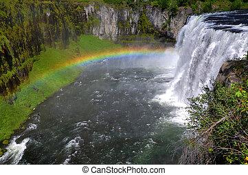 arco irirs,  Idaho, cascadas