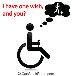 Person with disabilities - Illustration wish people with...