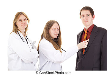 Medical doctors with patient