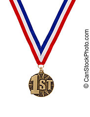 Winning first place medal