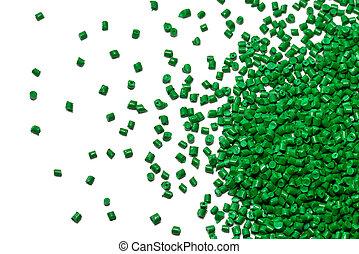 verde, polímero, Resina