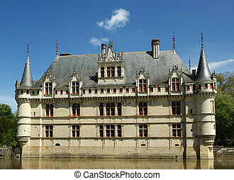 Chateau Azay-le-Rideau was built from 1515 to 1527, Loire,...
