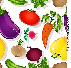 Seamless pattern bright vegetables - Seamless pattern of...