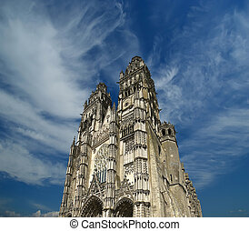 Gothic cathedral of Saint Gatien built between 1170 and...