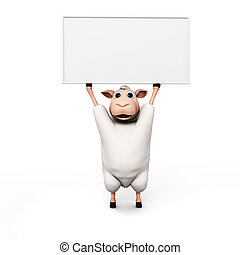3d rendered illustration of a funny sheep