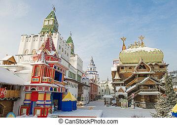 Izmaylovsky Kremlin - Moscow, Russia - January 2013. The...