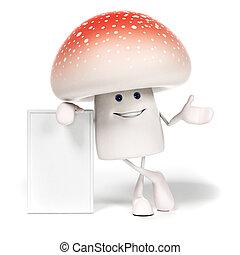 Food character - mushroom