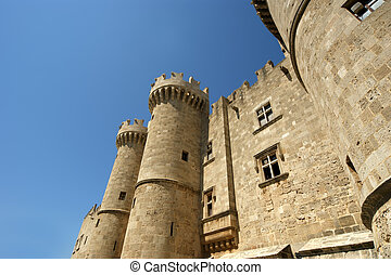 Rhodes Medieval Knights Castle Palace, Greece - Rhodes...