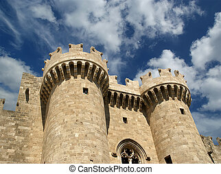 Rhodes Medieval Knights Castle (Palace), Greece - Rhodes...