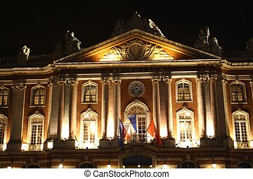 The Capitole of Toulouse - The facade of the Capitole by...