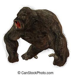 Silverback Gorilla - 3D Render of an Silverback Gorilla