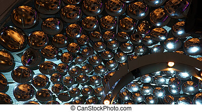 Mirrored ceiling in night club