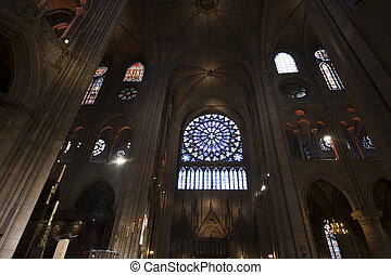 Notre Dame de Paris - The interior of the Notre Dame de...