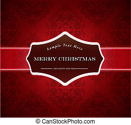 Abstract background with Merry Christmas sign.