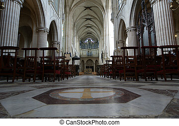 The, interior, Church, Saint-Germain-l'Auxerrois, Paris,...