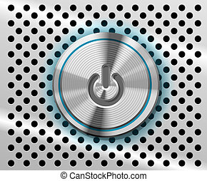 Mac Power Button - highlighted Power Button on perforated...