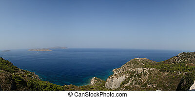 Seascape Dodecanese Islands in the Aegean Sea, Greece