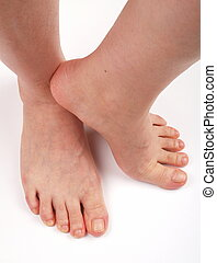 Happy feet - Female Feet on a white bagground. Image taken...