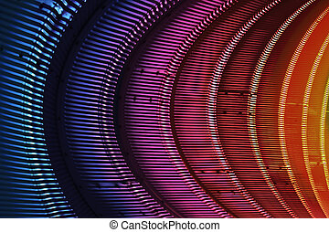 Spectral Tube - An abstract background metal shapes...