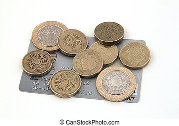 British uk currency on a white background