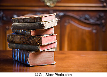 Old wisdom. - Beautiful antique books in very elegant...