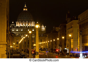 Via della Conciliazione and St. Peter's Basilica, Rome, Italy