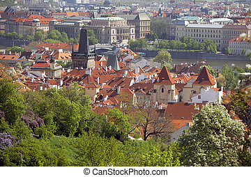 Prague - Lesser Town with Vltava River and Rudolfinum