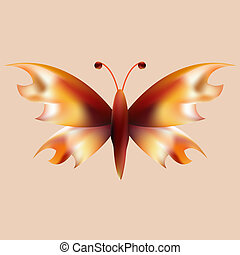 fire mesh butterfly with open wings